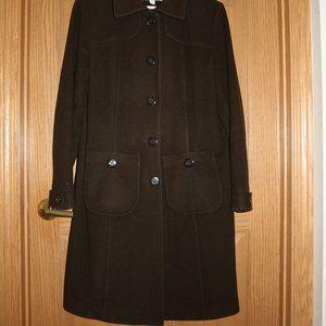 Croft & Barrow Long Wool Coat - Size L